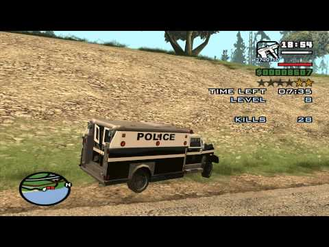 GTA San Andreas Vigilante Mission - using an Enforcer