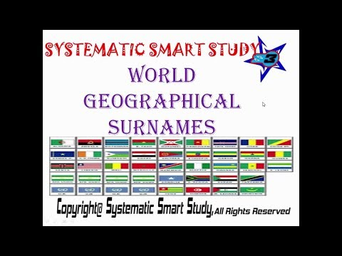 |WORLD||GEOGRAPHICAL||SURNAMES|