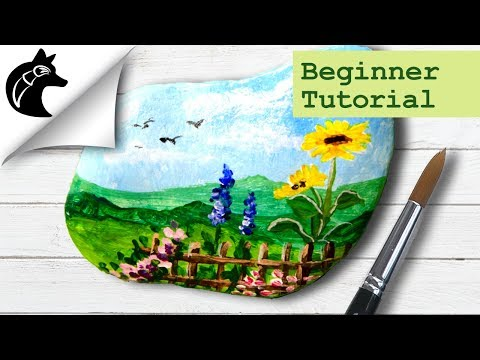 Rock Painting Tutorial For Beginners Landscape Garden