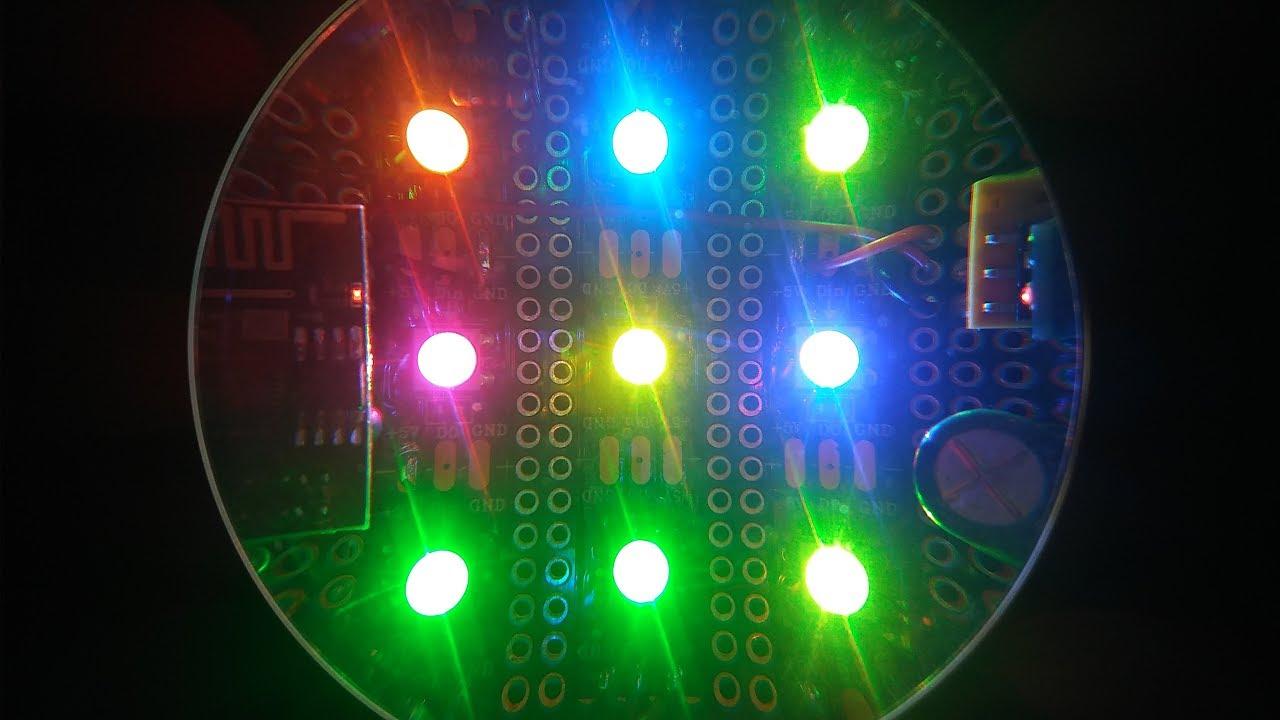 ESP32/01 Project 3: Worlds Coolest Nightlight (Neopixel Matrix Projector)