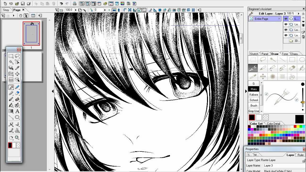 how to draw anime in manga studio