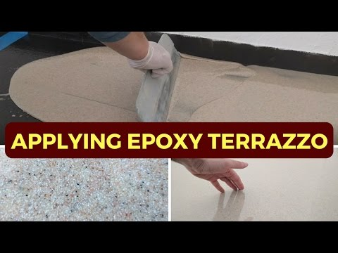 Applying 3mm Epoxy Terrazzo - Step by step demonstration