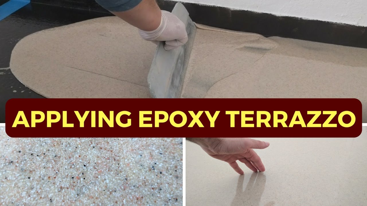 Applying 3mm Epoxy Terrazzo Step By Step Demonstration