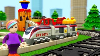 Train Videos For Kids To Watch - SKY TOYS Train Cartoon USA