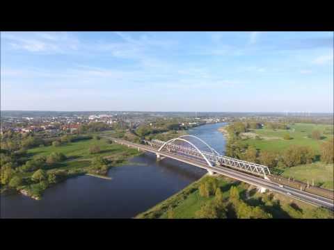 Lutherstadt Wittenberg aus der Luft, vor dem Reformationsfest 2017, DJi Phantom 4 Drohne