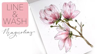 How To Create Lİne & Wash Magnolias