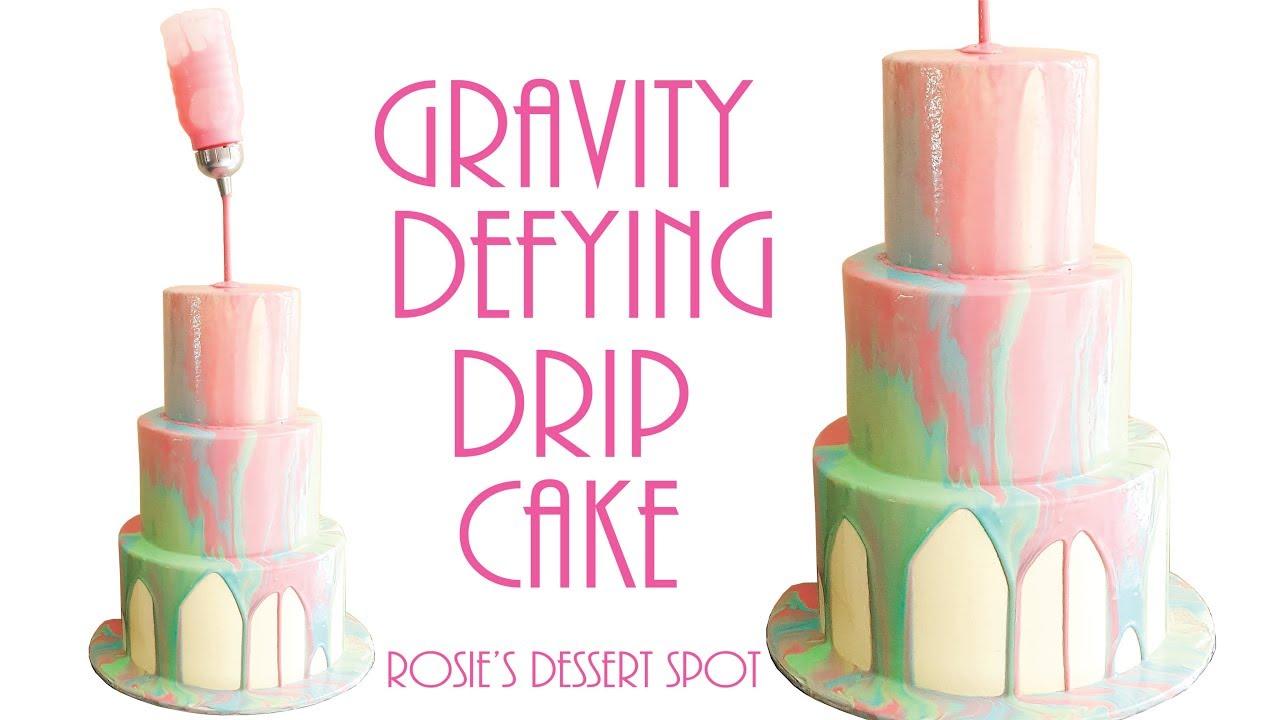 Gravity Defying Mirror Glaze Cake- Rosie's Dessert Spot