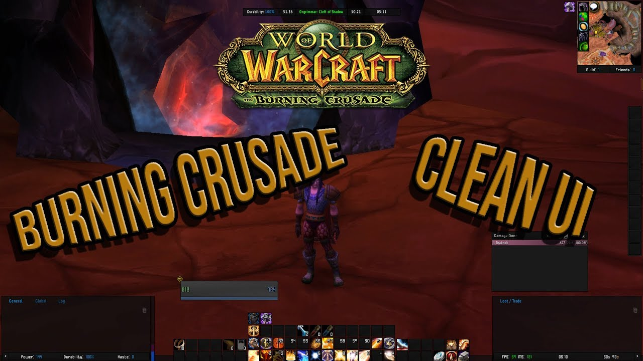Burning Crusade 2 4 3 WoW Addon Pack and UI Guide - Felmyst / Outland /  Light's Hope
