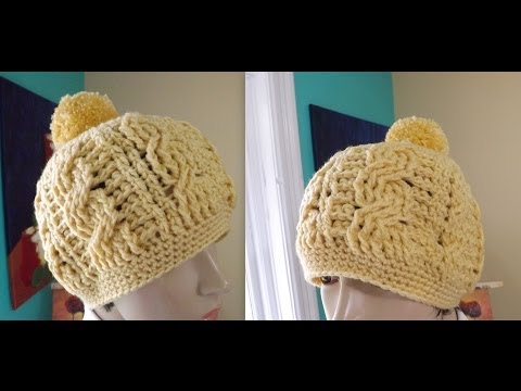 Crochet cable hat or beanie for adult - with Ruby Stedman