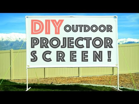 DIY Outdoor Projector Screen  -  Plus Micro Projector Review