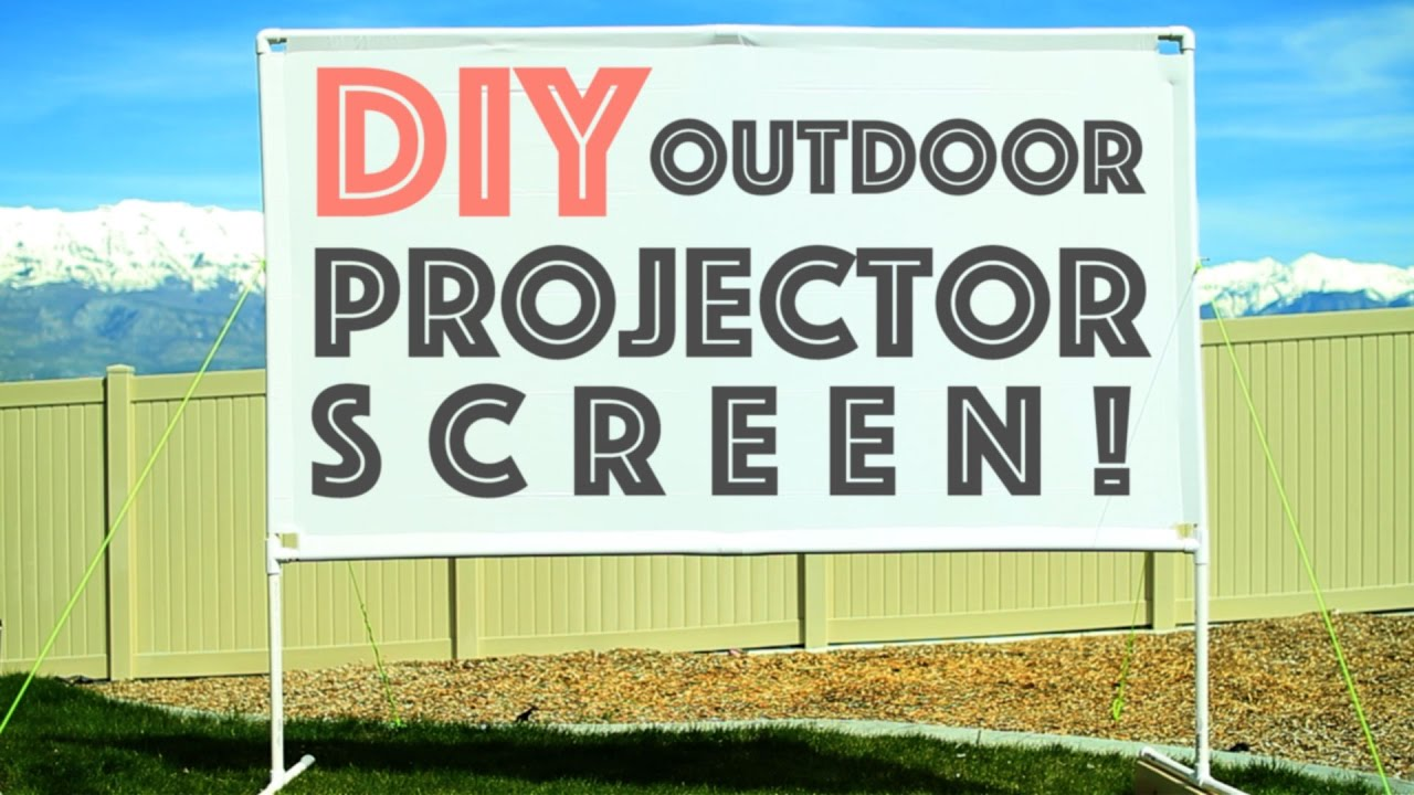 Diy Outdoor Projector Screen Plus Micro Projector Review