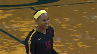 Khalia Lanier's 15 kills power USC women's volleyball to sweep over Oregon