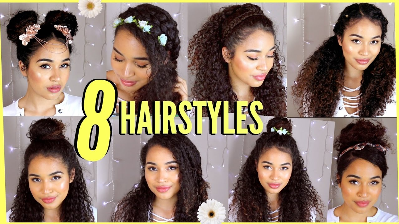 8 Spring/Summer Hairstyles For Naturally Curly Hair! By