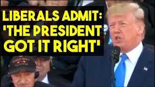 Even Liberals Liked Trump's D-Day Speech