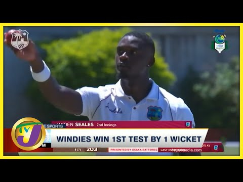 Windies Win 1st Test by 1 Wicket - August 15 2021