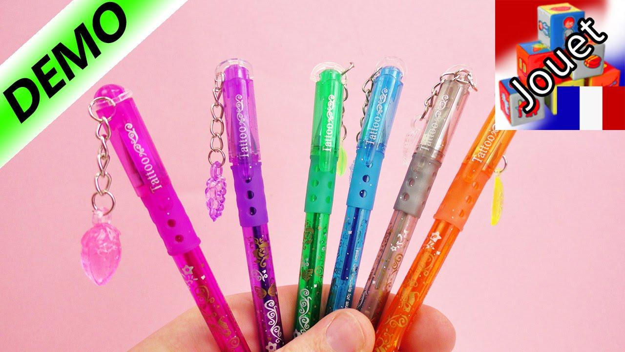 6 couleurs de stylos paillettes pour les tatouages avec - Que faire avec des aubergines grillees ...