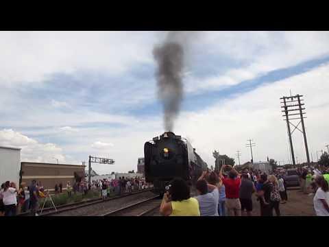 Union Pacific 844 Stops at Greeley Colorado, 7/23/2017