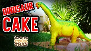 3D Dinosaur Cake | How To Cook That Ann Reardon dinosaur cake tutorial