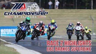 EBC Brakes Superbike Race 2 Highlights at The MotoAmerica Championship of Alabama