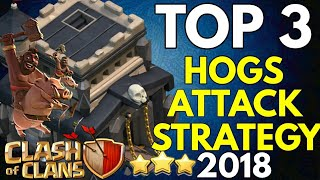 TH9 HOG RIDERS ATTACK STRATEGY 2018   3 STAR ANY BASE   COC TOP 3 TH9 WAR ATTACK STRATEGY 2018 💪