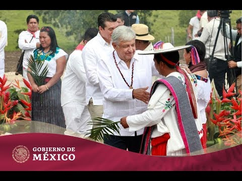 Ritual de los Pueblos Originarios a la Madre Tierra para aprobación del #TrenMaya
