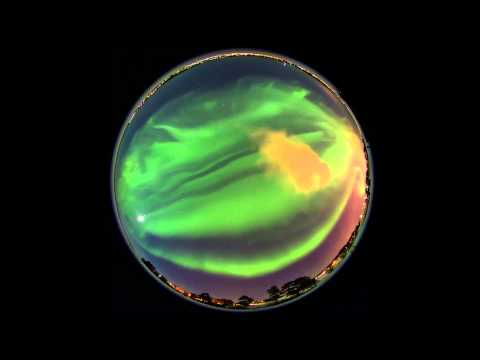 Time-lapse of a particularly intense aurora borealis display