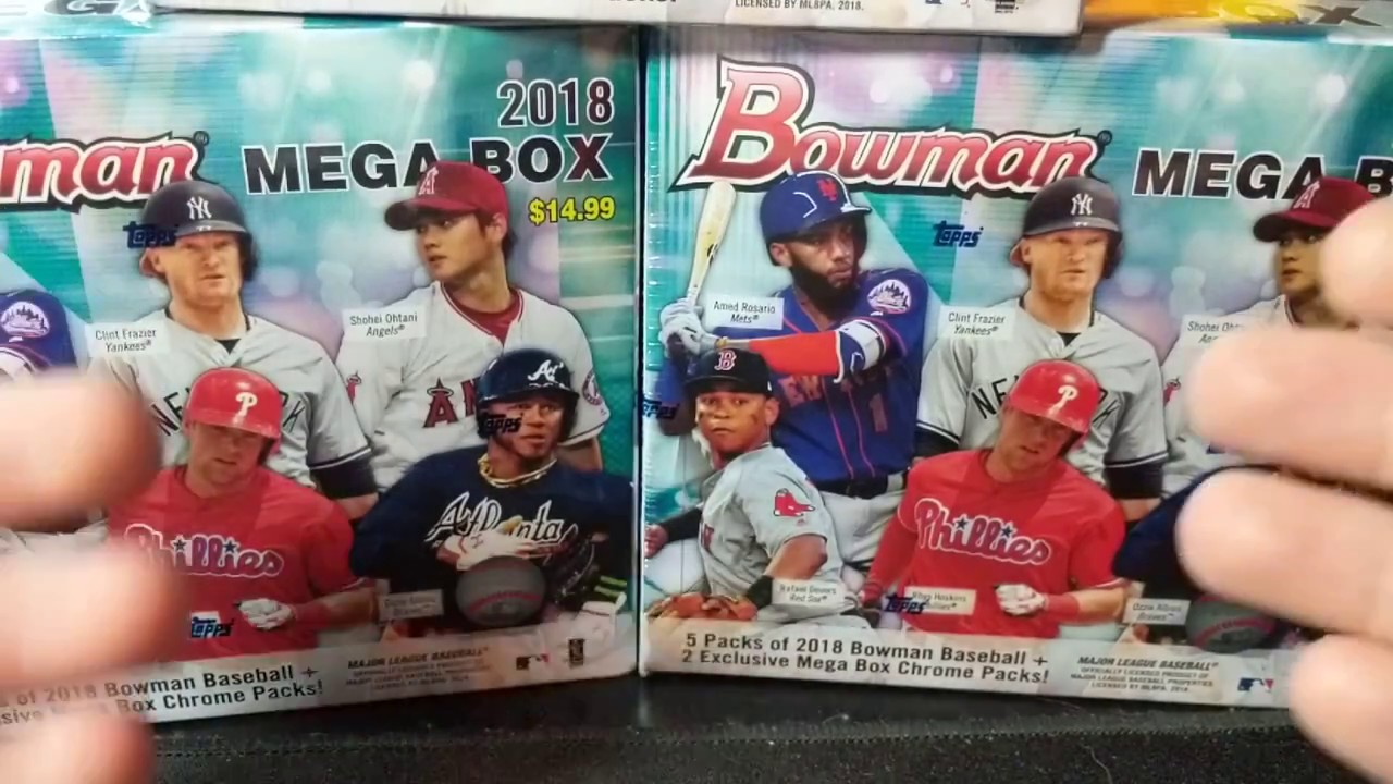 New 2018 Bowman Mega Box Opening 2 Acuna Mojo Target Exclusive 15 Mega Box