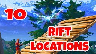 "ALL RIFT LOCATIONS - ""use a rift at different rift spawn locations"" Fortnite Battle Royale - week 8"