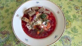 КРАСНЫЙ БОРЩ - экономный, полезный и вкусный суп с сухарями. Свекла очищает сосуды.