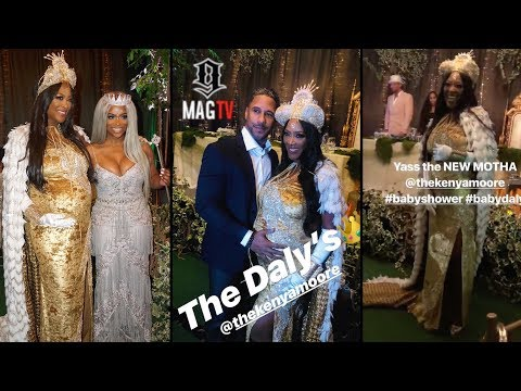 RHOA: Kenya Moore's Enchanted Baby Shower Had Everyone, But Nene Leakes! 👑