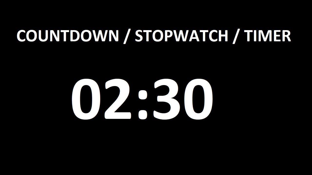 timer 150 seconds (2 minutes 30 seconds)