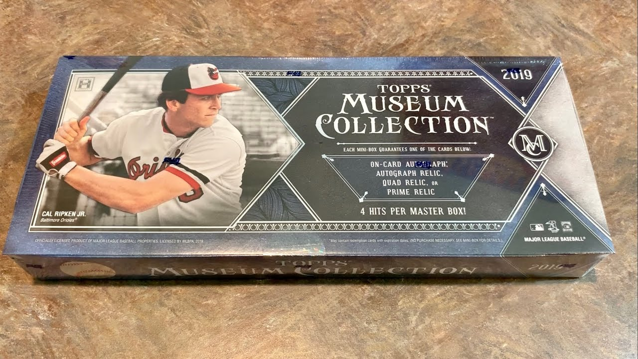 New Release 2019 Topps Museum Collection Box Opening
