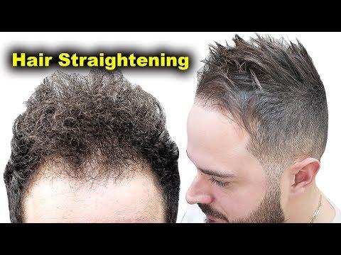 Curly Hair To Straight Hair By Hair Straightener Keratin Treatment || My Hair Transformation GHD✔️