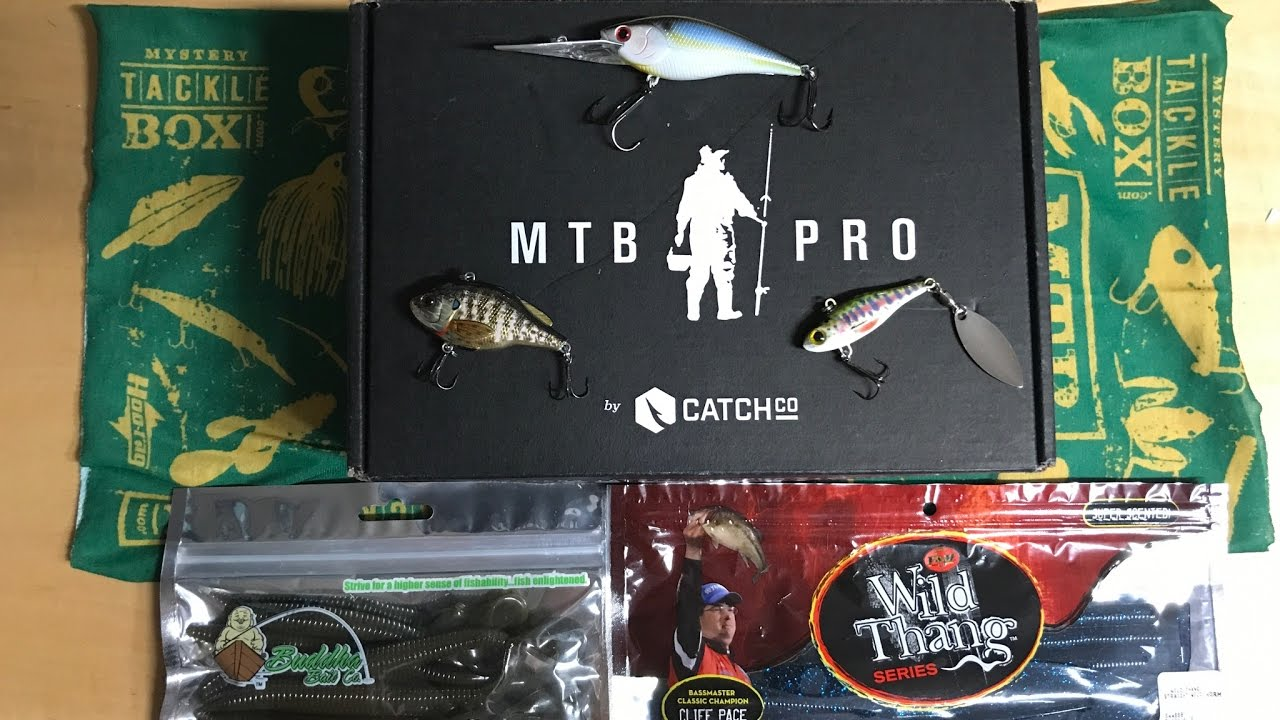Mystery tackle box pro bass unboxing may 2017 youtube for Fishing mystery box