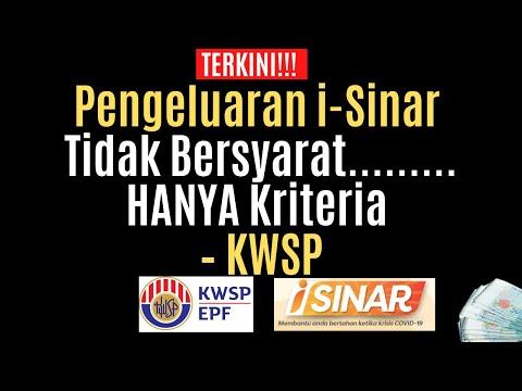 Pengeluaran i-Sinar Tidak Bersyarat, Hanya Kriteria – KWSP