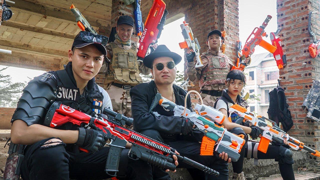 LTT Game Nerf War : Immortal Squadron Warriors SEAL X Nerf Guns Fight Braum Crazy Destroy Gangs