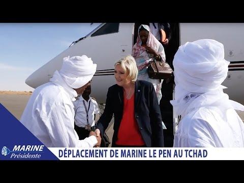 Marine Le Pen en déplacement au Tchad  Marine2017