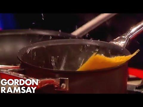 Gordon gives Amanda Holden an Exploding Pan  Gordon Ramsay