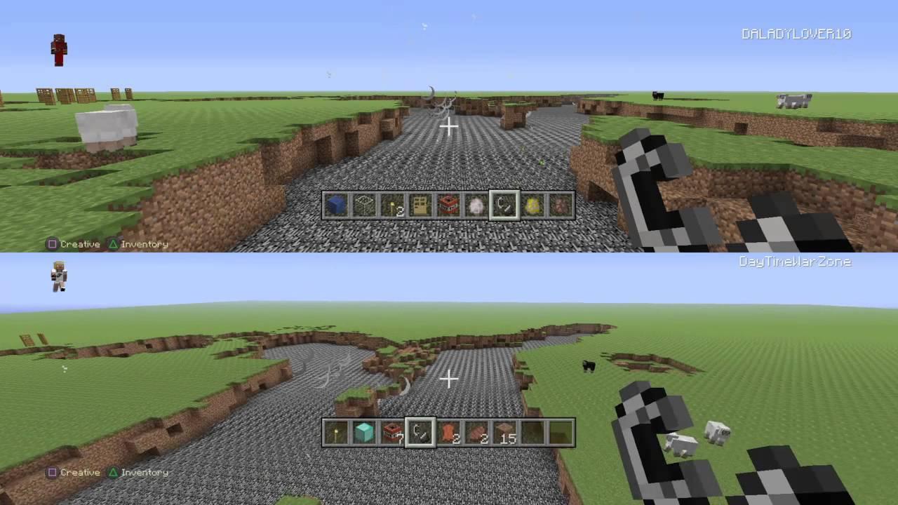 minecraft playstation 4 simple split screen gameplay. Black Bedroom Furniture Sets. Home Design Ideas