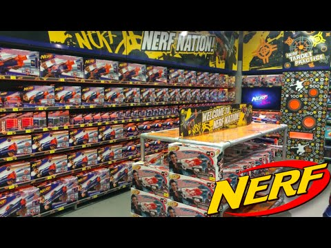 NERF Shopping At Toys