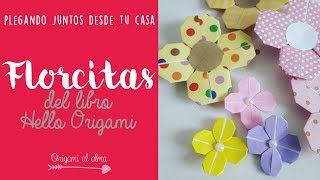 Florcitas del libro Hello Origami by Mizutama - Origami paso a paso
