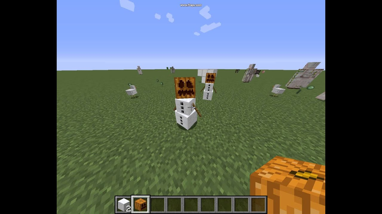 how to make a snow golem in minecraft pe