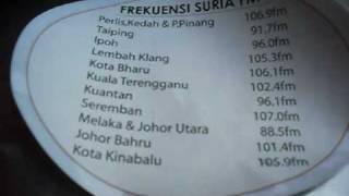 Suria FM Radio Frequency in Malaysia