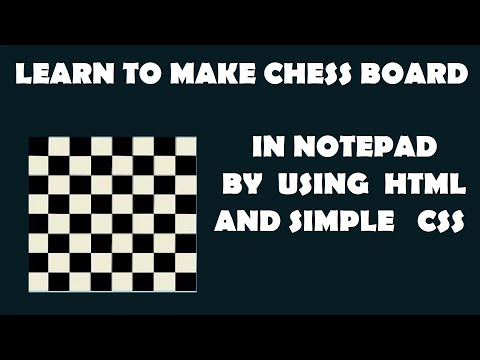 Make Chess Board Using HTML & CSS  Very Easy