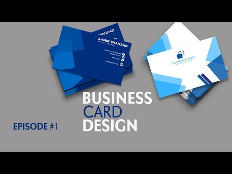 Business Card Design in Photoshop CC - Episode 1 | Hindi / Urdu Tutorial thumbnail