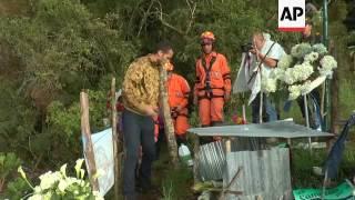 Chapecoense survivors return to disaster scene