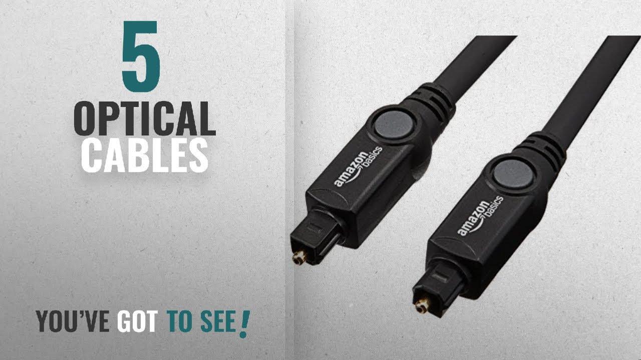 Top 10 Optical Cables [2018]: AmazonBasics Digital Optical Audio ...