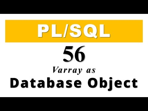 PL/SQL tutorial 56: How to create VARRAY as Database Object in Oracle By Manish Sharm