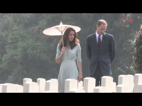 Royal couple's visit to Kranji War Memorial