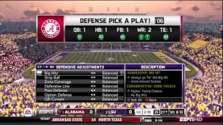 NCAA Football 13 - LSU vs Alabama Demo Gamplay HD Playstation 3